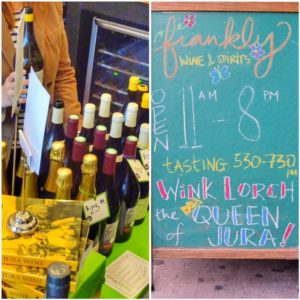 Jura wine tasting and books